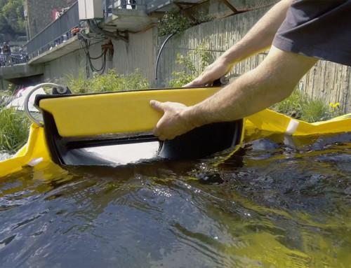 Sorpcyjne zapory pływające wychwytujące węglowodory