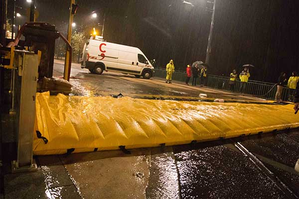 protection inondation par débordement sur pont