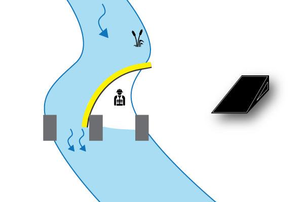 grodzisko rzeka na molo