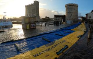 Barrages mobiles anti submersion Water-Gate© Tour de la Chaîne La Rochelle