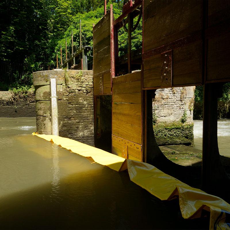 Przywrócenie przesiewania XV wieku Moulin de Pidou   Rivière Aa - Elastyczna komora z Water Gate © WA-2850