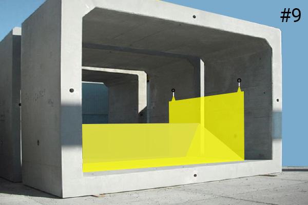 Elastyczne koferdamy Water-Gate ©. Schemat instalacji w betonowym przepuście | Przypadek 9